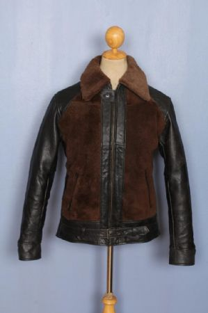 1930s Style GRIZZLY reproduction Leather Sports Motorcycle Jacket Small